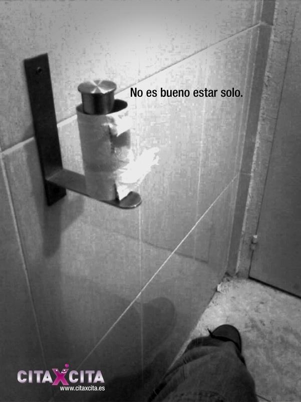 No es bueno estar solo