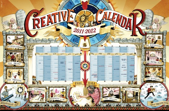 The Creative Calendar 2011-2012 Souce: Leo Burnett Paris.