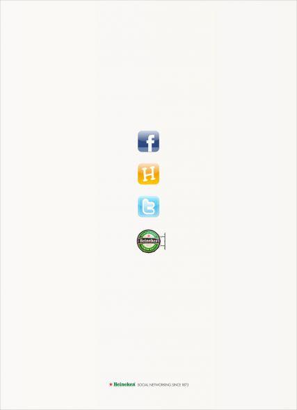 Heineken ad social networking desde 1873