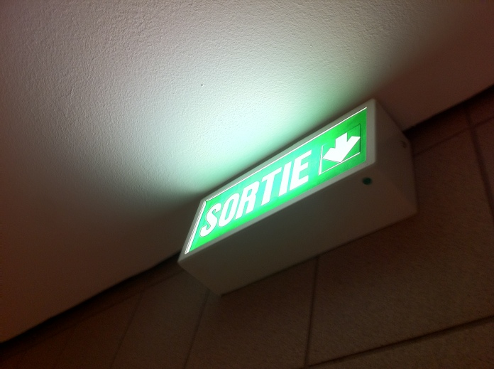 Exit. Now.